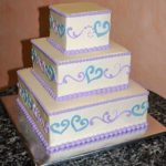 Buttercream Square Light Blue Hearts Lavendar Purple Pearl Base Border Upper Edge