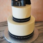 Buttercream 2-tier Black Checkered Bowties