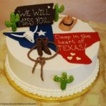 Retirement Texas themed cake