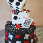Vegas themed birthday cake