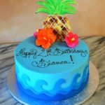3D pineapple birthday cake