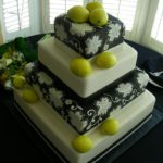 Black and White with Marzipan Lemons