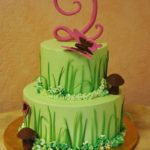 Buttercream with Grasses and Stylized Numeral