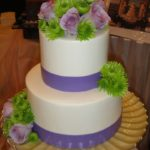 Buttercream with Puple Base Borders