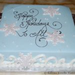 Buttercream with Snowflakes