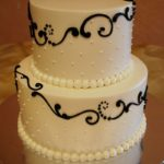 Butterecream with Tinted Scroll and Dots