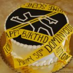Crime Scene Birthday Cake for Local DA