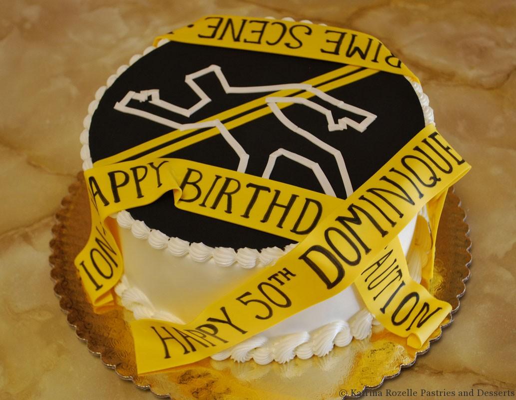 Crime Scene Birthday Cake For Local Da