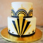 1920's Black and Gold Art Deco