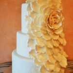 Fondant Cascade Rose with Lace Stencil