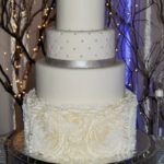 Fondant Rosette and Quilted design