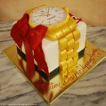 Gold Watch Birthday Cake