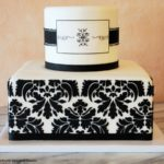 Fondant 2-tier Black Damask