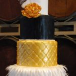 Fondant Flapper Quolted and handmade flower