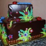 Dark Chocolate Glaze with Bugs and Worms