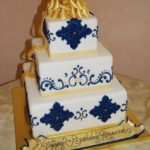 Extravagant Birthday Celebration in Blue and Gold