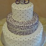 Lavender and Silver Accents on White Fondant