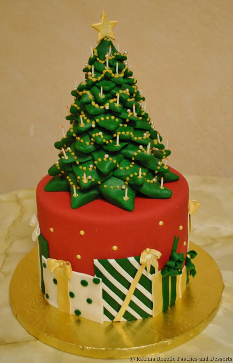 Images Of Christmas Tree Cake : Katrina Rozelle Pastries & Desserts Holidays