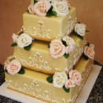 Marzipan with Gold Accents and Handmade Roses