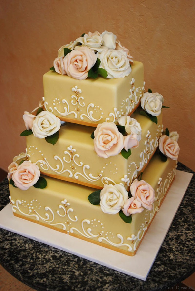 Expensive wedding cakes for the ceremony: Sample wedding cake pictures