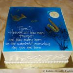 Over the Moon Shower Cake