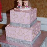 Pink Butterceam with Applique and Bling