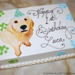 Puppy Plaque Birthday Cake