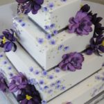 Purple Blossoms on Buttercream