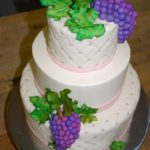 Quilted Fondant with Handmade Grapes & Leaves