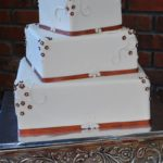 White Fondant with Copper Accents